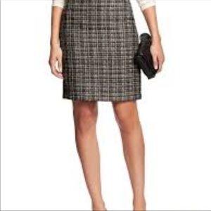 Women's Gray and black Tweed Pencil Skirt